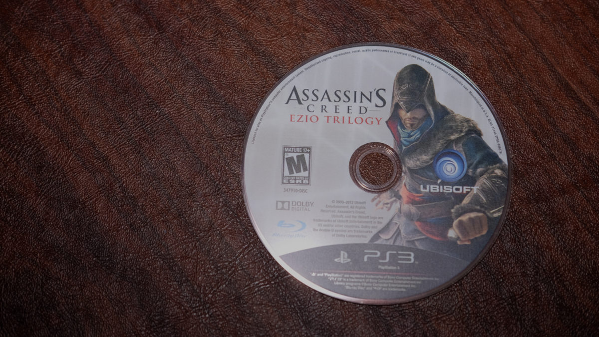 Assassin's Creed Ezio trilogy PS3 disc