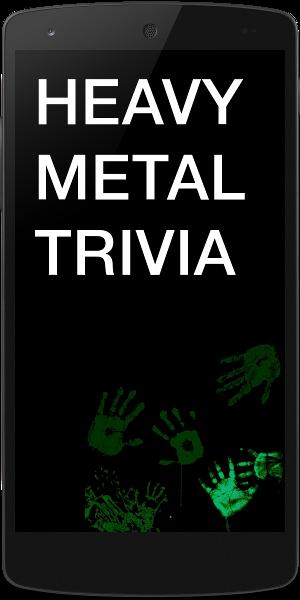 heavy metal trivia app title screen