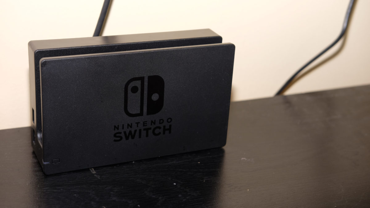 Nintendo Switch charging dock