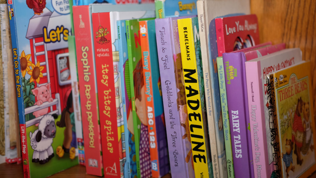 stack of books for children